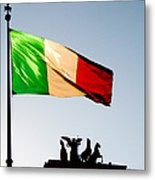 Italian Flag Metal Print