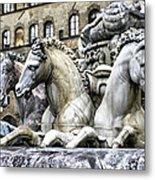 Italian Fountain Metal Print