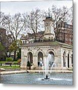 Italian Fountain In London Hyde Park Metal Print by Semmick Photo