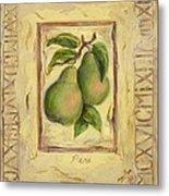 Italian Fruit Pears Metal Print