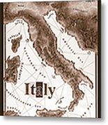Italian Map Metal Print