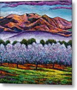 Italian Orchard Metal Print