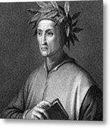 Italian Poet Dante Alighieri Metal Print