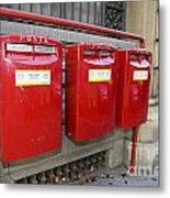 Italian Post Office Boxes Metal Print