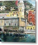 Italian Riviera - Cinque Terre Colors Metal Print