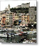 Italian Seaside Village Metal Print by Jim  Calarese