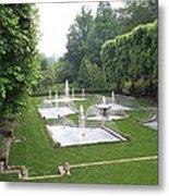 Italian Water Garden Metal Print