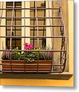 Italian Window Box Metal Print