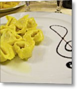 Italy, Cento A Plate Of Cheese Metal Print