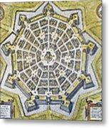 Italy: Palmanova Map, 1598 Metal Print