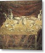 Italy. Pompeii. Vesuvius Gate. Tomb Metal Print