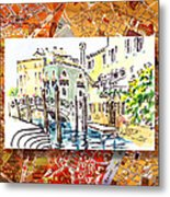 Italy Sketches Venice Canale Metal Print