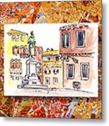 Italy Sketches Venice Piazza Metal Print