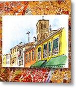 Italy Sketches Venice Via Nuova Metal Print