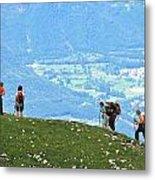 Italy Trekking Metal Print