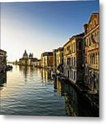 Italy, Venice, Buildings Along Canal Metal Print