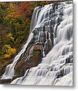 Ithaca Falls In Autumn Metal Print