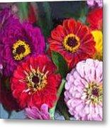 Farmer's Market Flowers II Metal Print