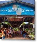 Ithaca Farmer's Market Metal Print