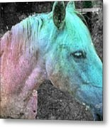 It's 1970 And I Want A Groovy Rainbow Pony Metal Print