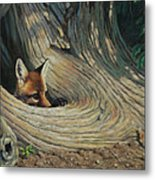Fox - It's A Big World Out There Metal Print
