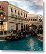 It's Not Venice - Gondoliers On The Grand Canal Metal Print