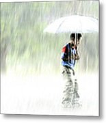 It's Raining Outside Metal Print