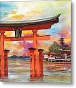 Itsukushima Shrine Metal Print by Catf