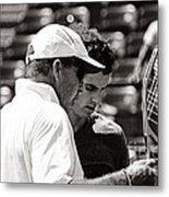 Ivan Lendl And Andy Murray  Metal Print by Nishanth Gopinathan