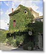 Ivy Covered Cottage Metal Print