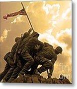 Iwo Jima Memorialized Metal Print