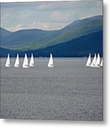 J Boats Lake George N Y Metal Print