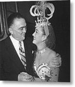 J. Edgar Hoover And Actress Dorothy Metal Print