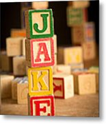 Jake - Alphabet Blocks Metal Print