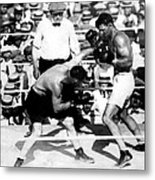 Jack Dempsey Fights Tommy Gibbons Metal Print by Everett