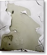 Jack Frost Nipping At Your Nose Metal Print