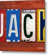 Jack License Plate Name Sign Fun Kid Room Decor Metal Print
