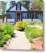 Jack London Countryside Cottage And Garden 5d24565 Long Metal Print