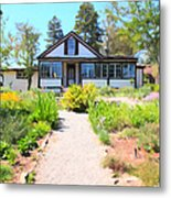 Jack London Countryside Cottage And Garden 5d24565 Metal Print by Wingsdomain Art and Photography