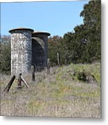 Jack London Ranch Silos 5d22146 Metal Print by Wingsdomain Art and Photography