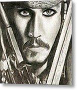 Jack Sparrow Metal Print by Michael Mestas