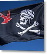 Jack Sparrow Pirate Skull Flag Metal Print