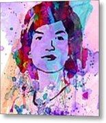 Jackie Kennedy Watercolor Metal Print