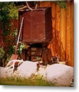 Jacks Mining Cart Metal Print