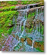 Jackson Falls At Mile 405 Natchez Trace Parkway-tennessee Metal Print