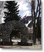 Jackson Hole Wyoming Antler Arch Metal Print