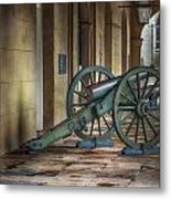 Jackson Square Cannon Metal Print by Brenda Bryant
