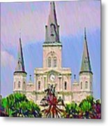 Jackson Square In The French Quarter Metal Print