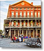 Jackson Square Reading Metal Print
