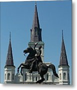 Jackson Square Salute Metal Print by Kevin Croitz